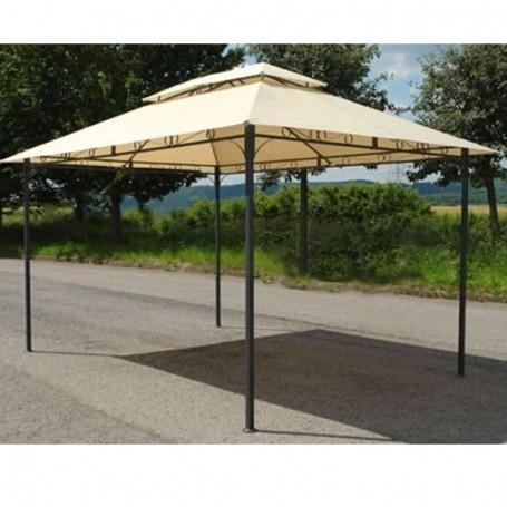 Zahradní kovový pavilon 3x4 m béžový
