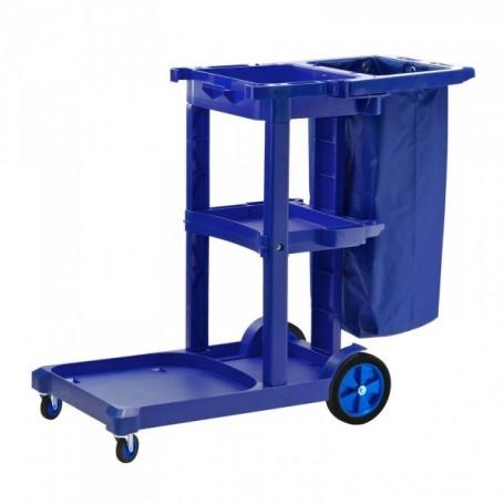 Profi pojízdný úklidový vozík s držákem na odpadkový pytel 87 litrů