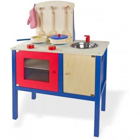 Dětská dřevěná kuchyň s příslušenstvím