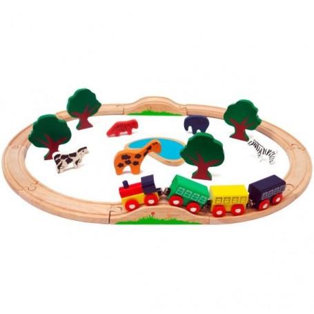 Sada vlaková - 24-dílná, dřevěná