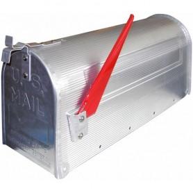 Hliníková americká poštovní schránka, stříbrná