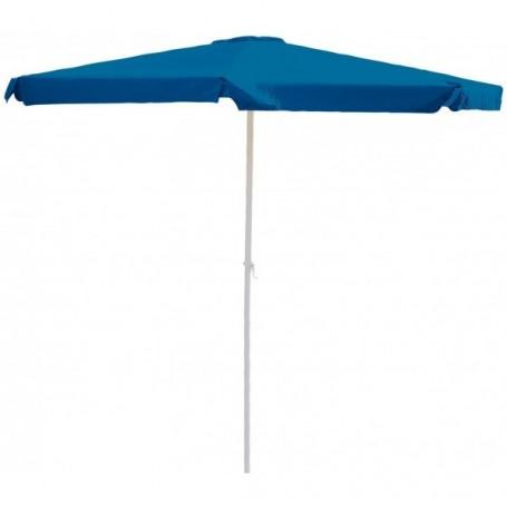 Hliníkový slunečník s klikou 350 cm, modrý