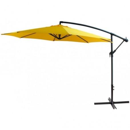 Závěsný slunečník 300 cm, žlutý