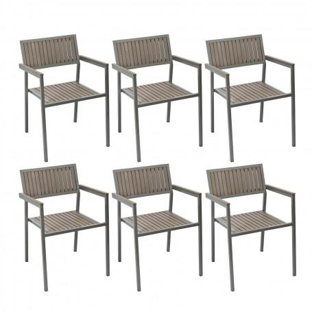 Zahradní židle Palermo, 6 ks
