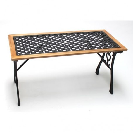 Zahradní stůl litina/dřevo Sonja