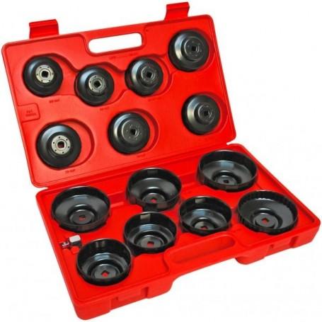 Sada klíčů na olej. filtr 15-dílná
