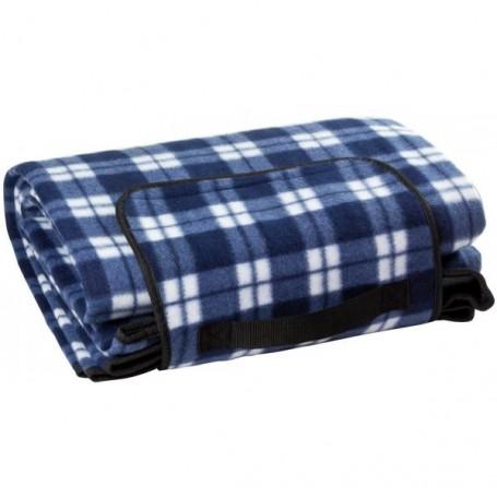 Plážová / pikniková deka 190x130 cm Acryl-Fleece, modrá