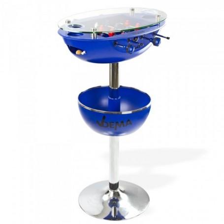 Barový stůl se stolním fotbalem Vegas, modrý