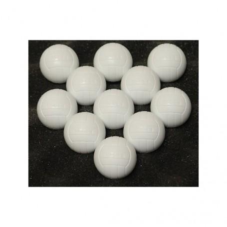 Sada fotbalových míčů 11 ks bílé