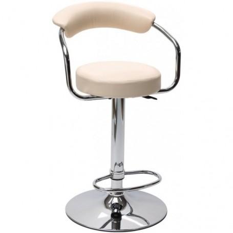 Barová židle s opěradlem Beige, béžová