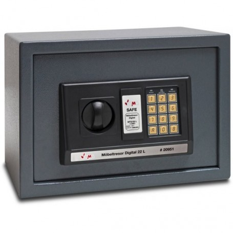 Digitální trezor 35x25x25 cm 22 litrov