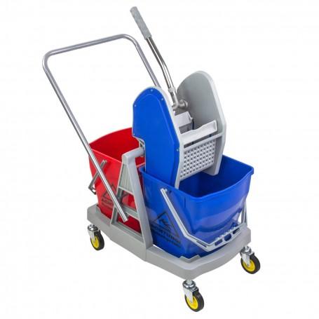 Dvojitý úklidový vozík 60L
