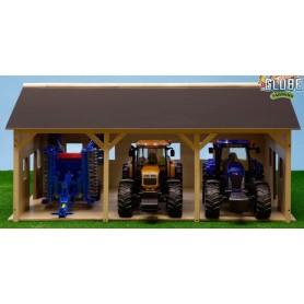 Dřevěná stodola pro 3 traktory 1:16