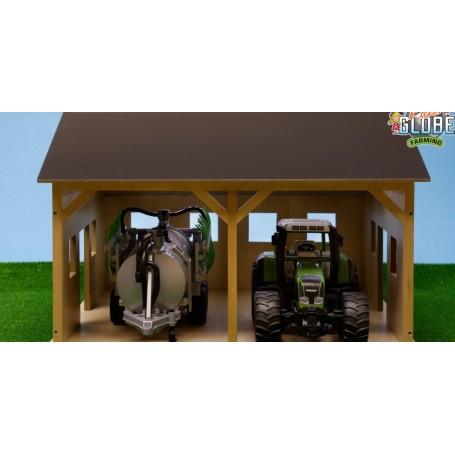 Dřevěná stodola pro 2 zemědělské stroje 1:16