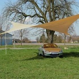 Stínící plachta proti slunci 5x5 m béžová