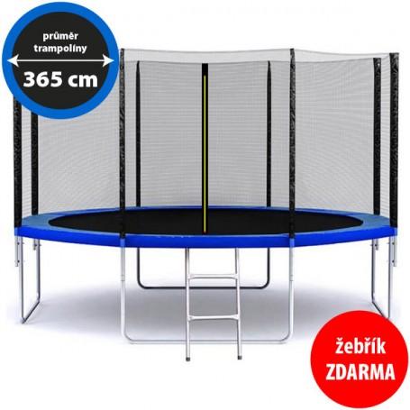 Zahradní trampolína 365 cm / 12 ft s žebříkem