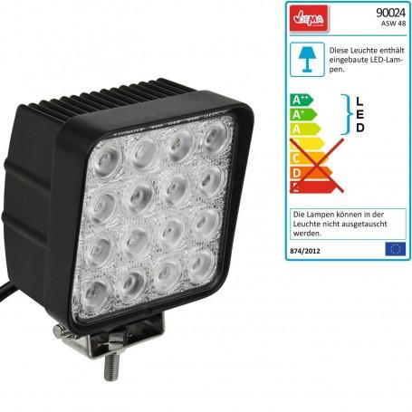 LED pracovní světlo 12 V 16x3 W
