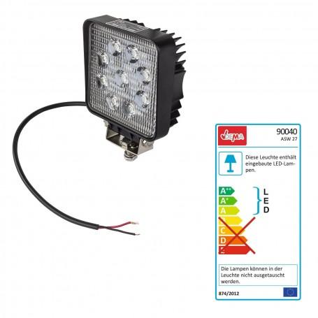 LED pracovní reflektor 12 V 9x3 W