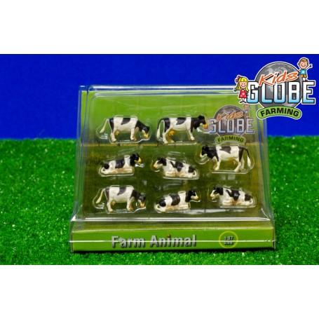 Krávy černobílé 1:87, 8 ks