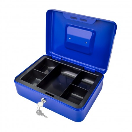 Kovová pokladnička 25x18x9 cm DGK 250, modrá
