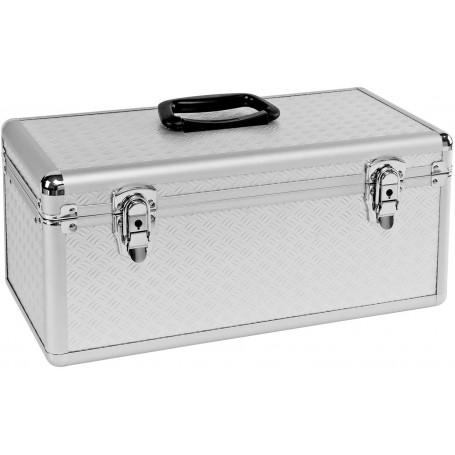 Hliníkový kufr na nářadí a nástroje, stříbrný