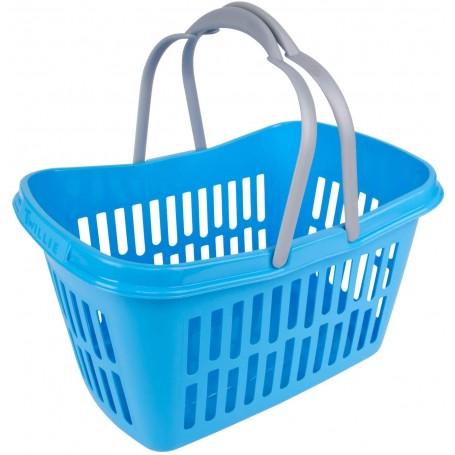 Nákupní košík plastový 21 litrů, modrý