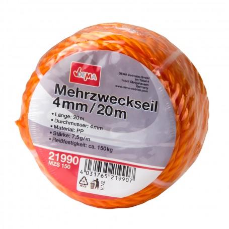 Víceúčelové lano 4 mm / 20 m MZS 150