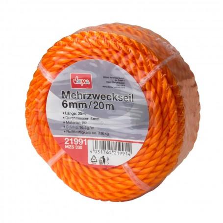 Víceúčelové lano 6 mm / 20 m MZS 330