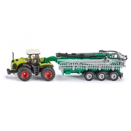 Traktor Claas Xerion s cisternou 1827 1:87