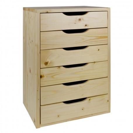 Dřevěná zásuvková skříňka SB6