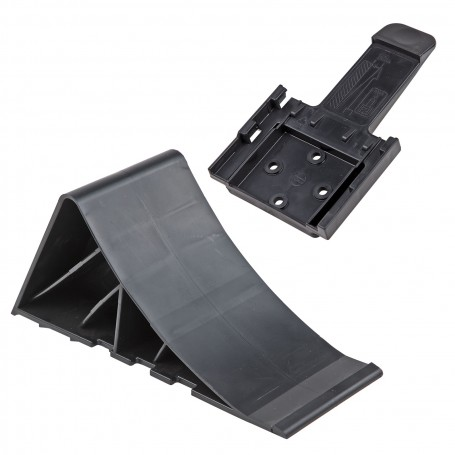 PVC brzdící klín pro přívěs s držákem, černý