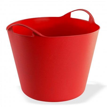 Multifunkční flexibilní koš 25 L, červený