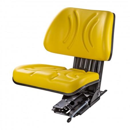 Odpružené sedadlo na traktor, žluté