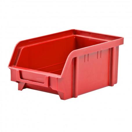 Plastový zásobník 103x166x73 mm, červený