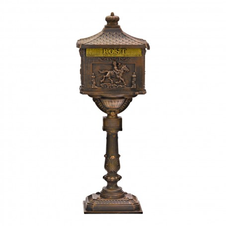 Poštovní schránka na stojanu Antik, bronzová