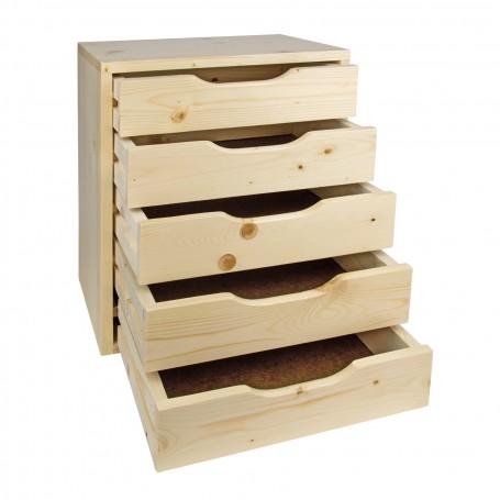 Dřevěná zásuvková skříňka SB5