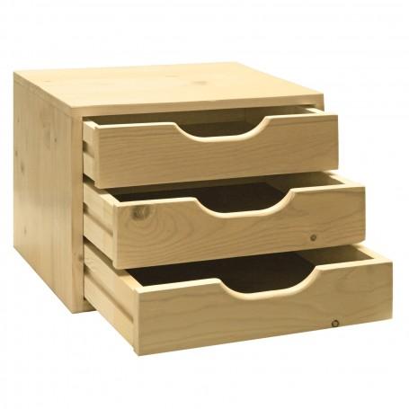 Dřevěná zásuvková skříňka SB3