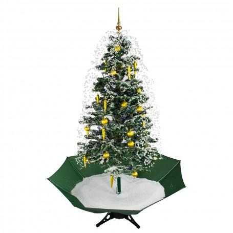 Vánoční stromek se sněžením a ozdobami 145 cm
