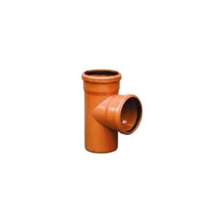PVC odbočka jednoduchá 87°30 pro kanalizační systém SN4 150/150/8 KGEA