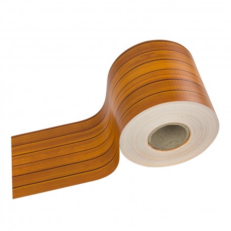 Krycí páska na plot z PVC 19 cm x 35 m, dřevo