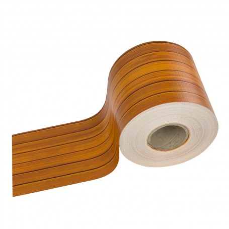 Krycí páska na plot z PVC 19 cm x 70 m, dřevo