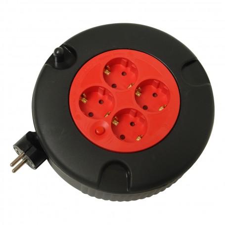 Prodlužovací kabel v bubnu, 4 zásuvky IP20, 5 m KB 1,5/5